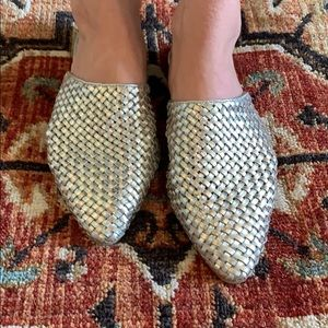 Jeffrey Campbell Metallic Slides